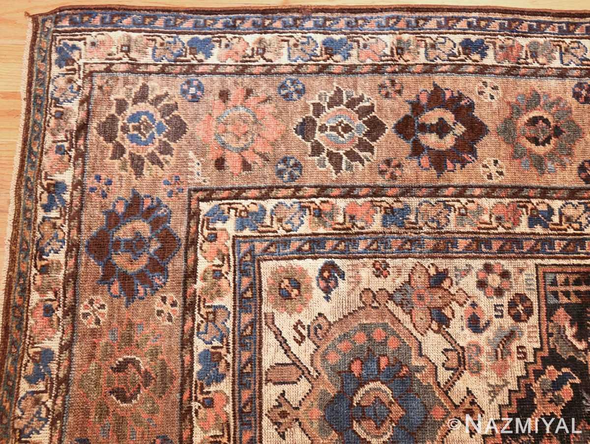 antique persian qashqai gallery size rug 50392 corner Nazmiyal
