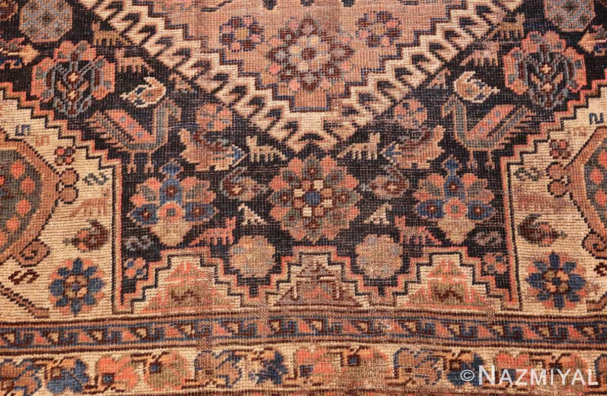 antique persian qashqai gallery size rug 50392 down Nazmiyal