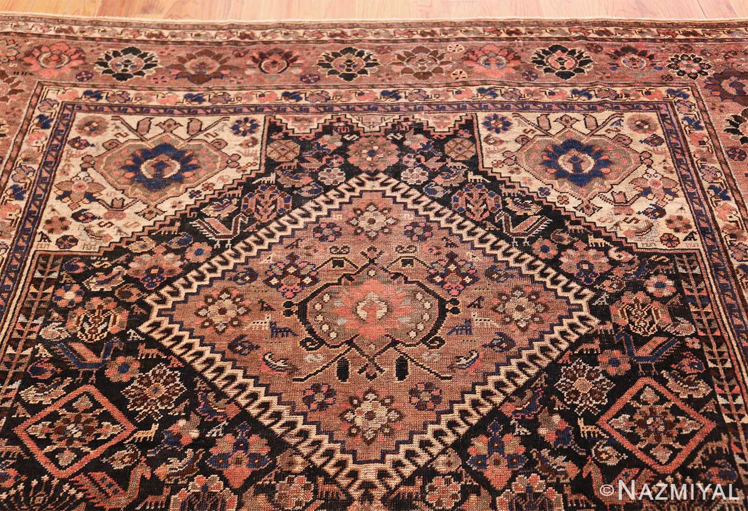 antique persian qashqai gallery size rug 50392 top Nazmiyal