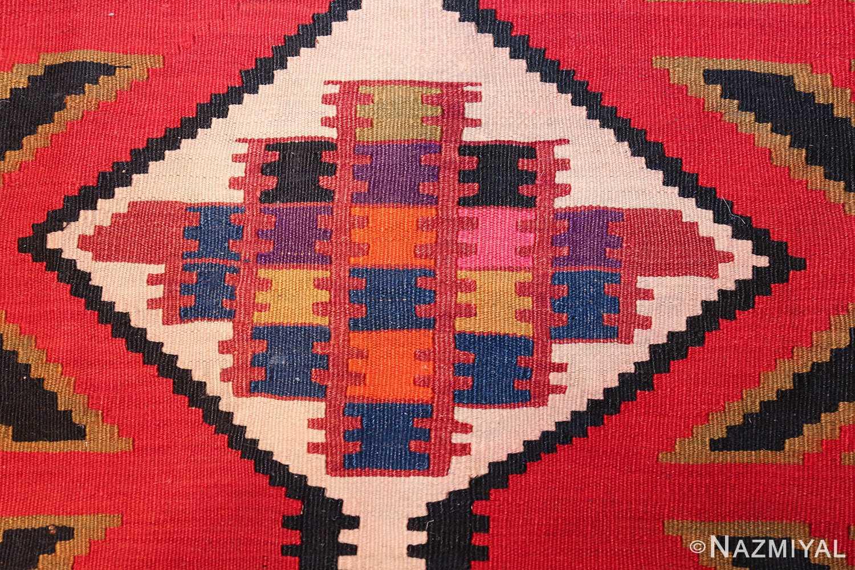 antique tribal caucasian kuba kilim rug 50421 colors Nazmiyal