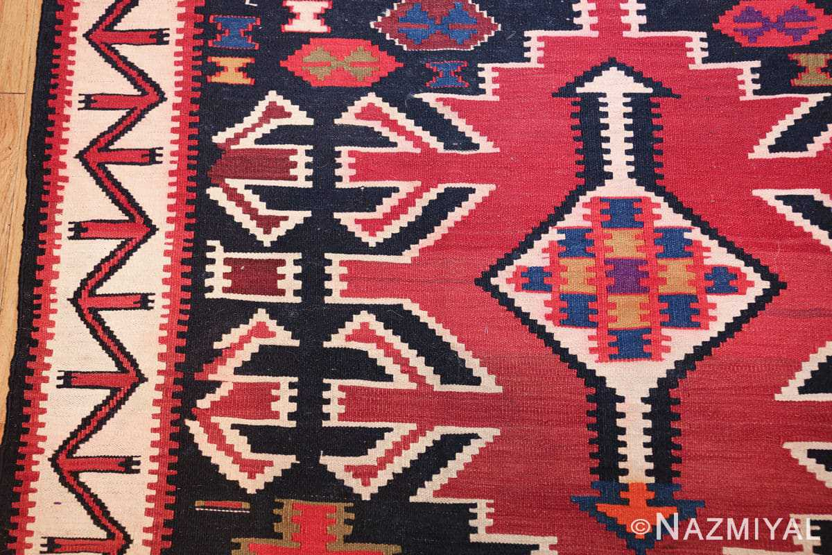 antique tribal caucasian kuba kilim rug 50421 design Nazmiyal