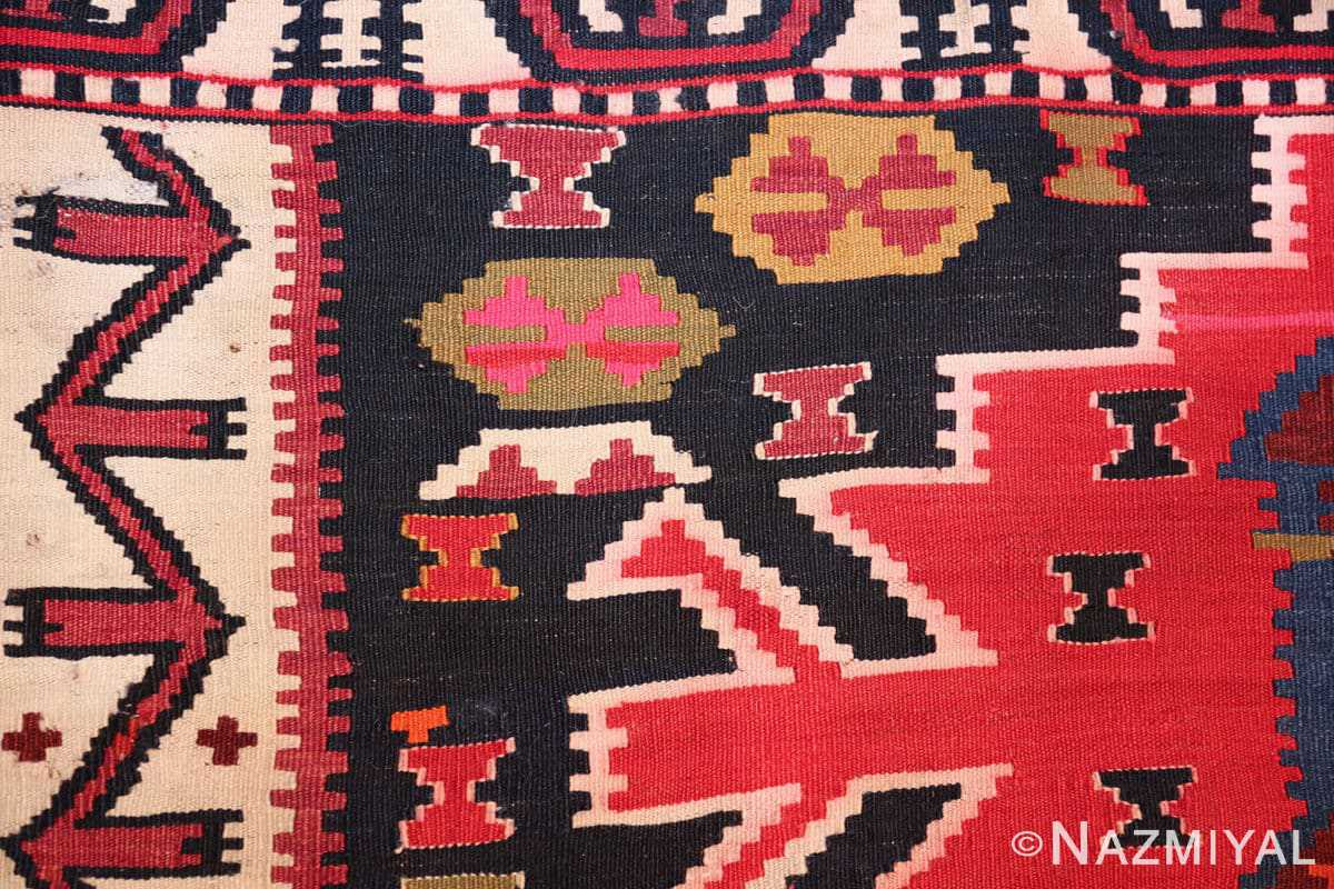 antique tribal caucasian kuba kilim rug 50421 pattern Nazmiyal