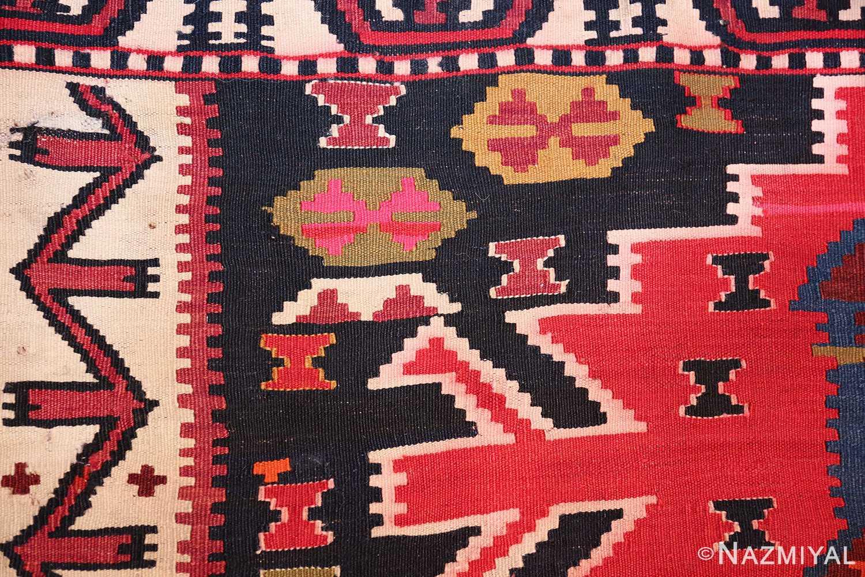 antique tribal caucasian kuba kilim rug 50421 pattern Nazmiyal