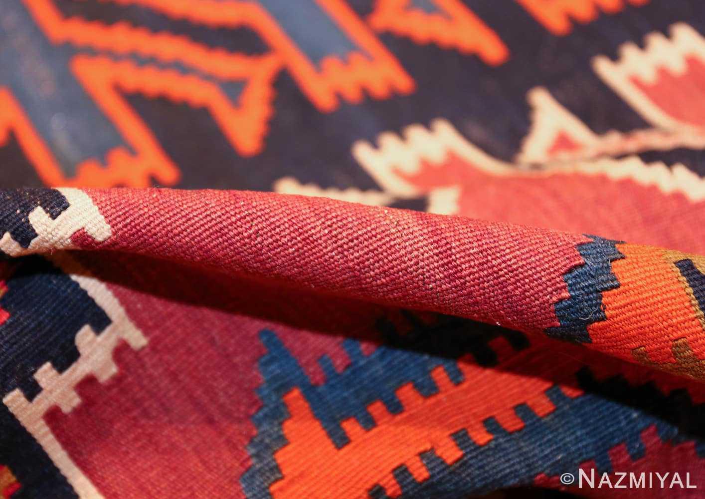 antique tribal caucasian kuba kilim rug 50421 pile Nazmiyal