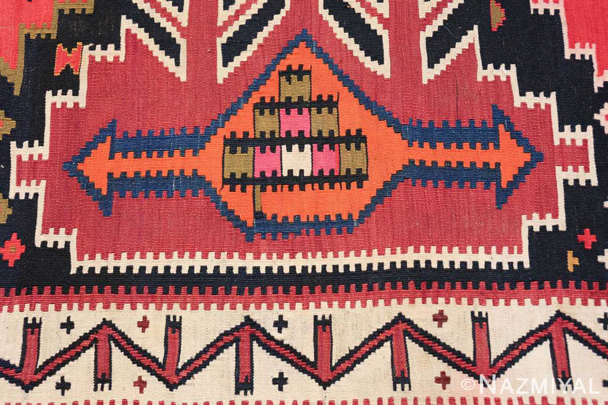 antique tribal caucasian kuba kilim rug 50421 ship Nazmiyal