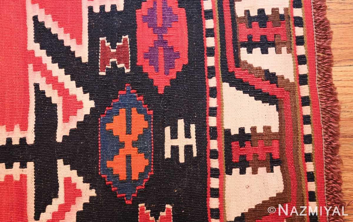 antique tribal caucasian kuba kilim rug 50421 side Nazmiyal