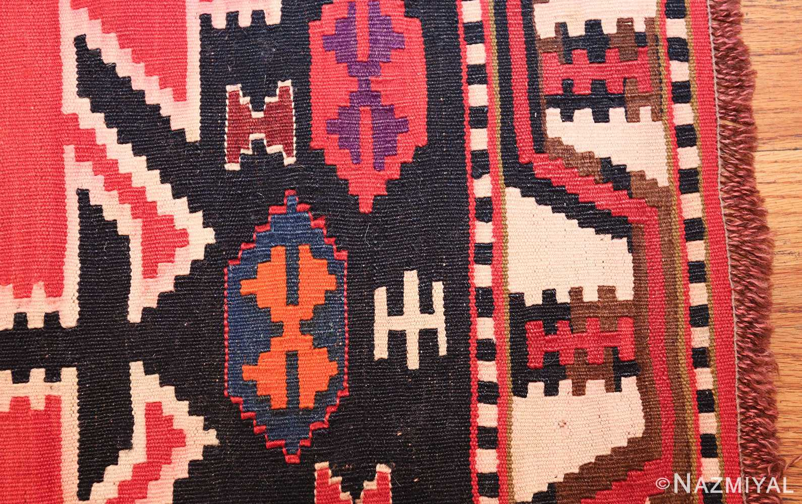 Antique Tribal Caucasian Kuba Kilim Rug 50421 By Nazmiyal