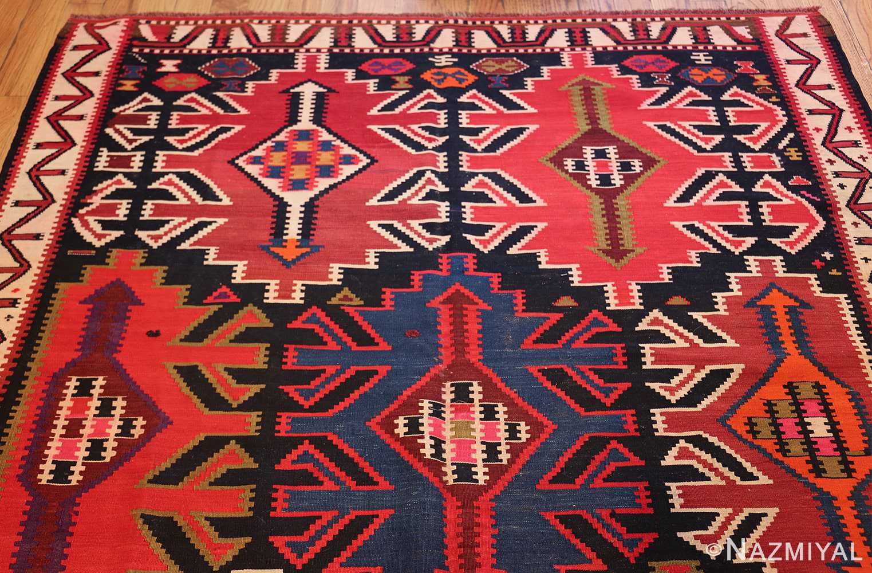 antique tribal caucasian kuba kilim rug 50421 top Nazmiyal