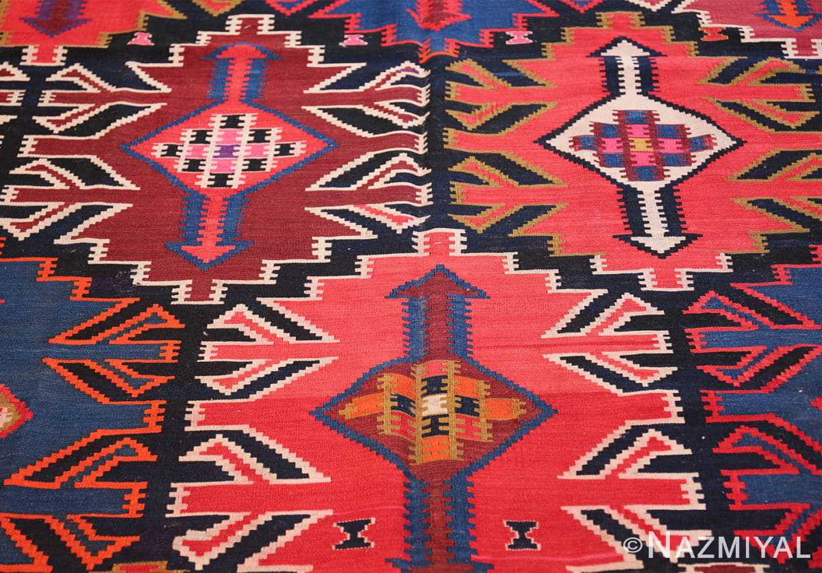 antique tribal caucasian kuba kilim rug 50421 trio Nazmiyal