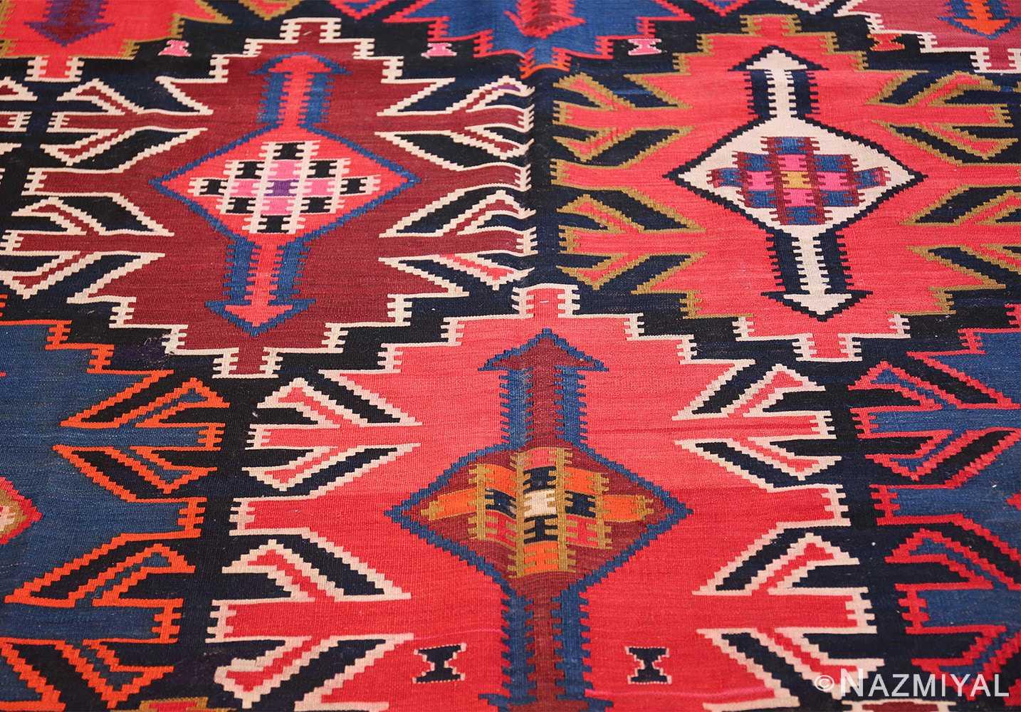 antique tribal caucasian kuba kilim rug 50421 trio Nazmiyal