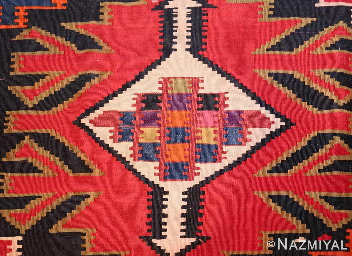 antique tribal caucasian kuba kilim rug 50421 view Nazmiyal