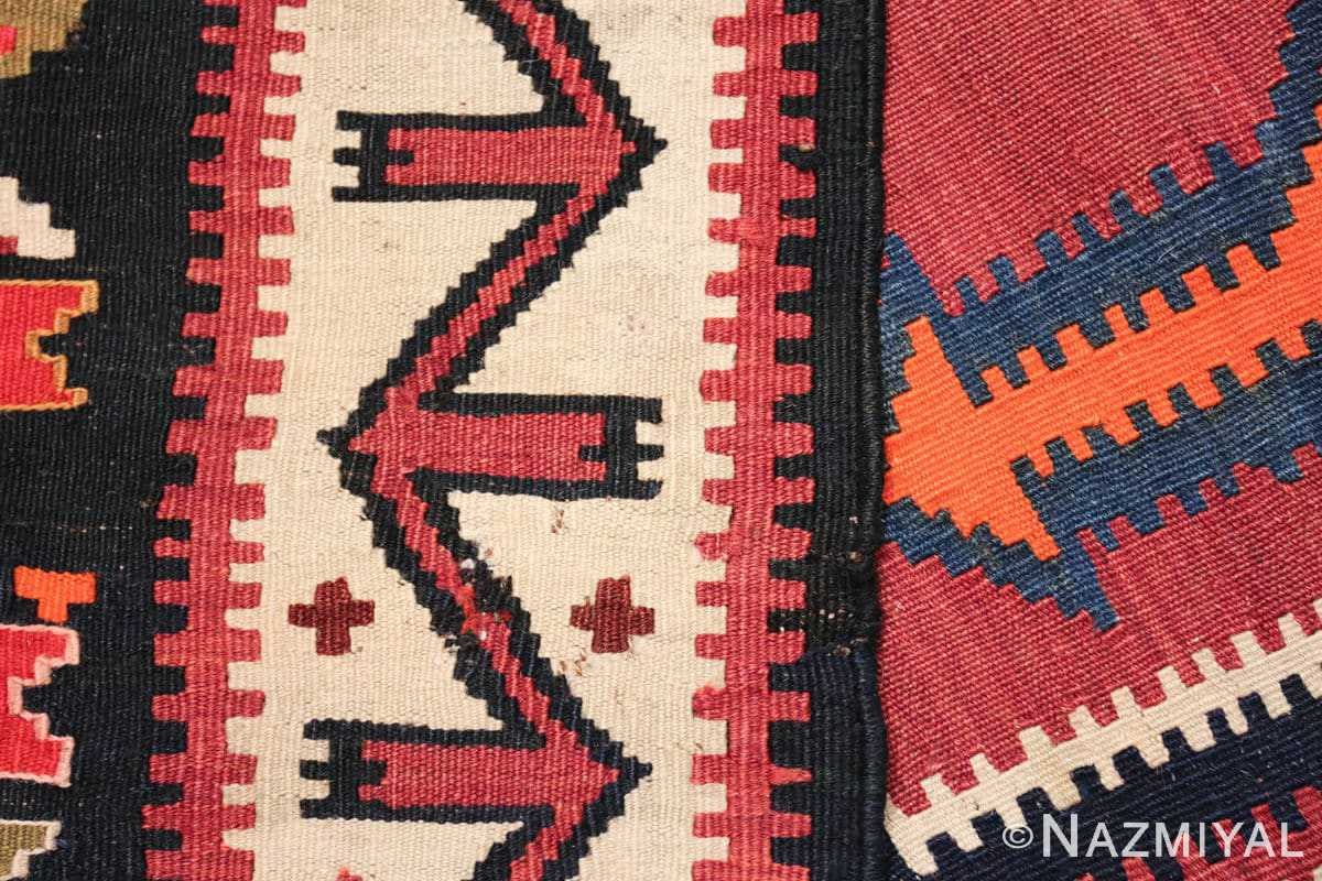 antique tribal caucasian kuba kilim rug 50421 weave Nazmiyal
