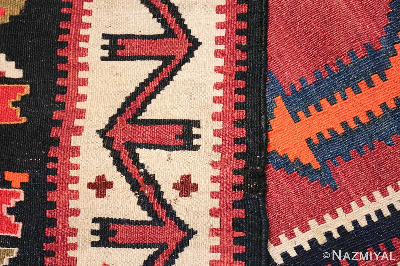 antique tribal caucasian kuba kilim rug 50421 weave Nazmiyal