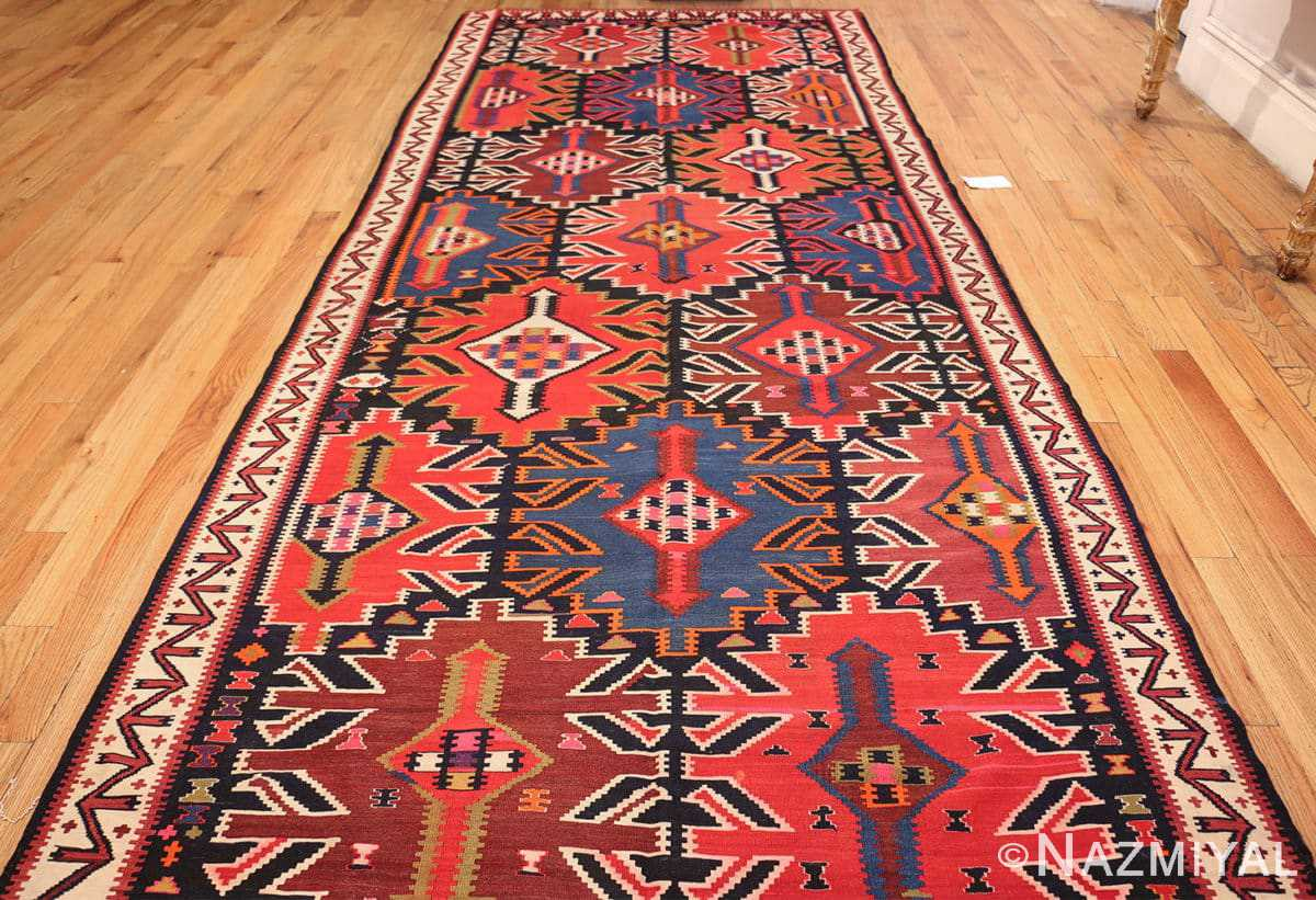 antique tribal caucasian kuba kilim rug 50421 whole Nazmiyal