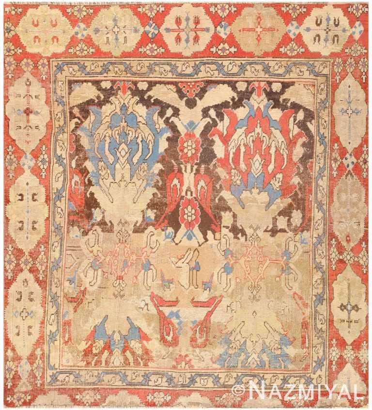 Antique Turkish Oushak Rug 48663 Detail/Large View