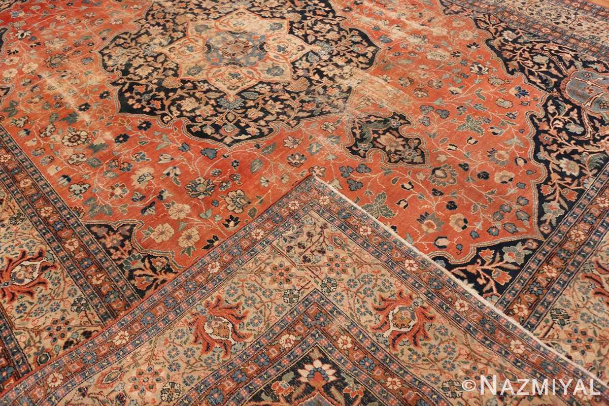 Back Beautiful Shabby chic Antique Persian Tabriz rug 47294 by Nazmiyal