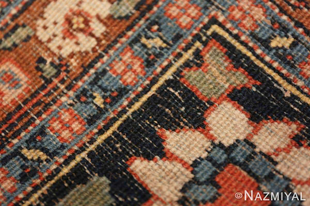 Back detail Beautiful Shabby chic Antique Persian Tabriz rug 47294 by Nazmiyal