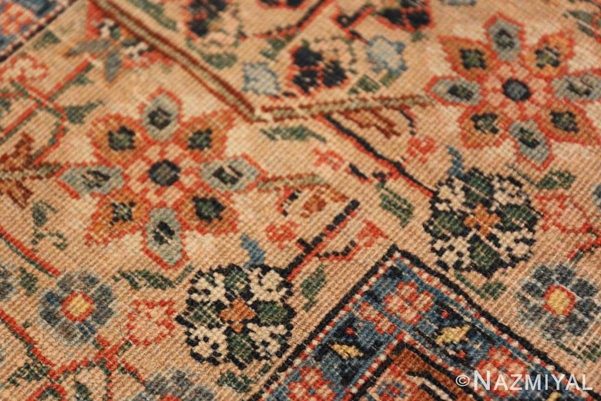 Back detail from the Beautiful Shabby chic Antique Persian Tabriz rug 47294 by Nazmiyal