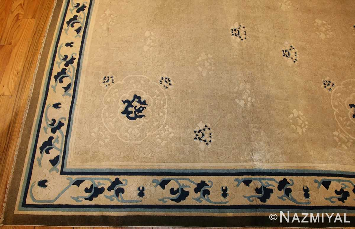 beautiful large size antique ivory chinese rug 50252 border Nazmiyal