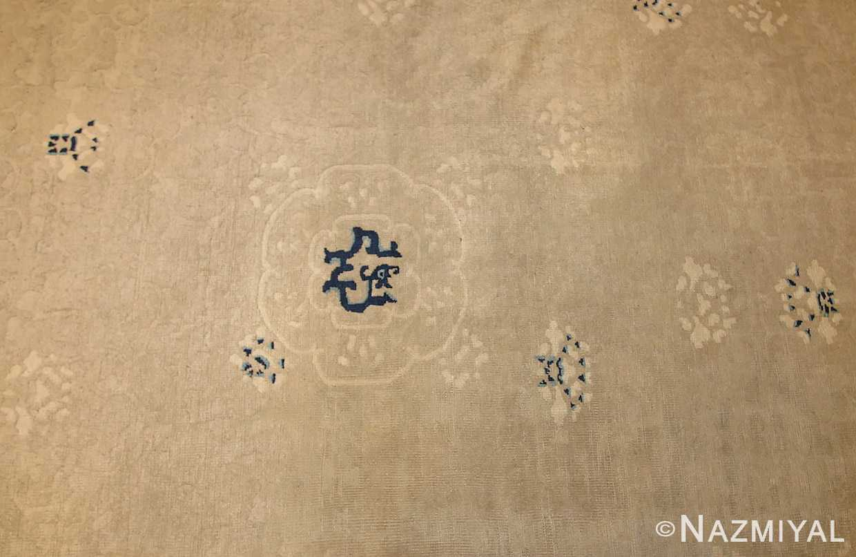 beautiful large size antique ivory chinese rug 50252 field Nazmiyal