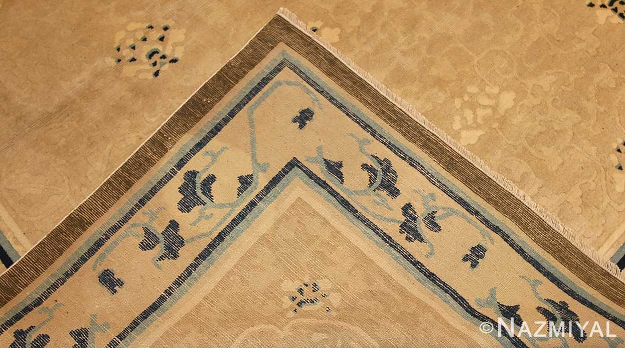 beautiful large size antique ivory chinese rug 50252 weave Nazmiyal