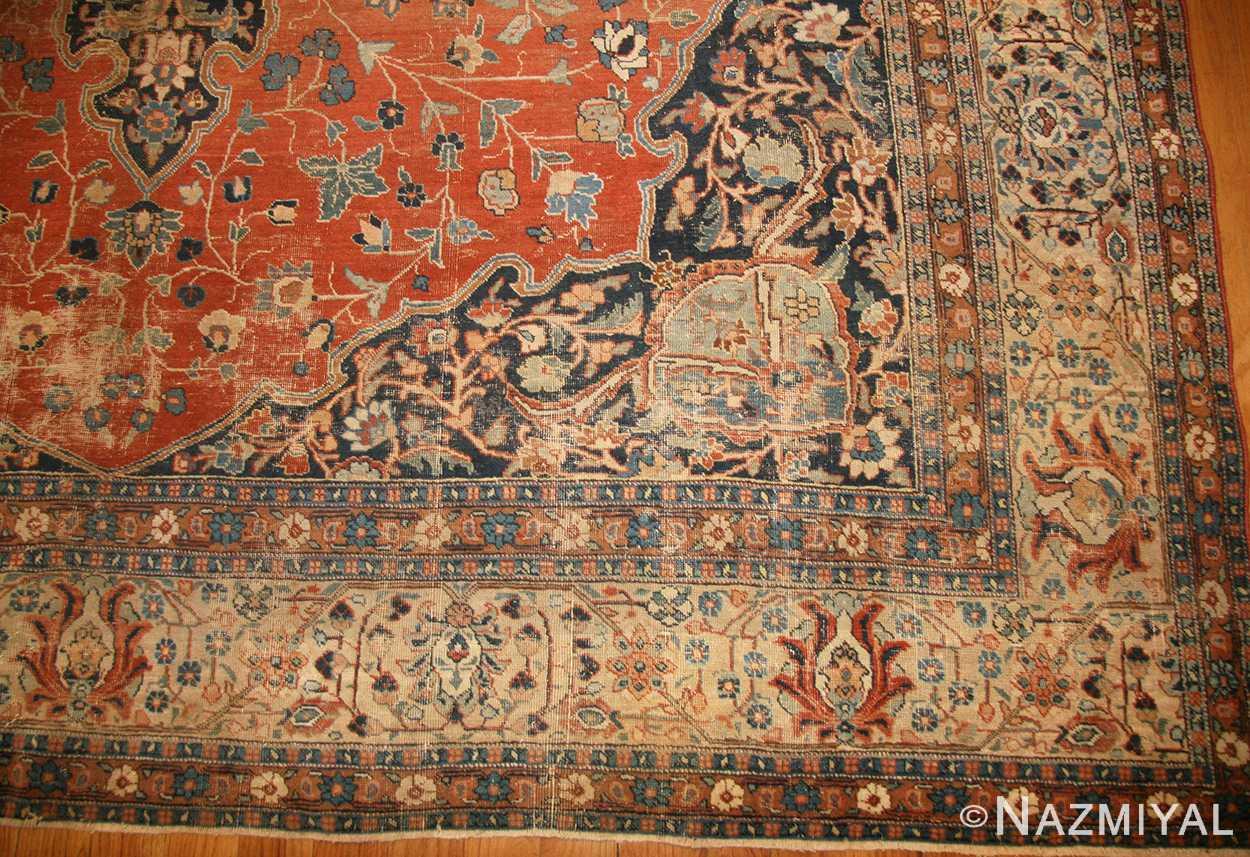 beautiful shabby chic antique persian tabriz rug 47294 design nazmiyal