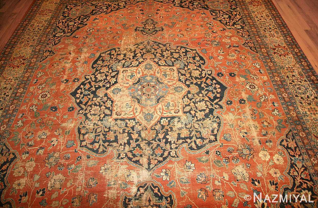 beautiful shabby chic antique persian tabriz rug 47294 medallion nazmiyal