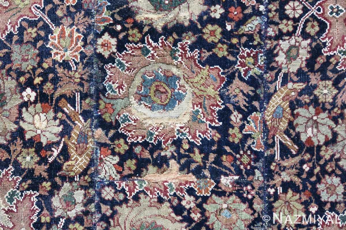 Bird detail Antique 16th Century Persian afavid Salting rug 48639 by Nazmiyal