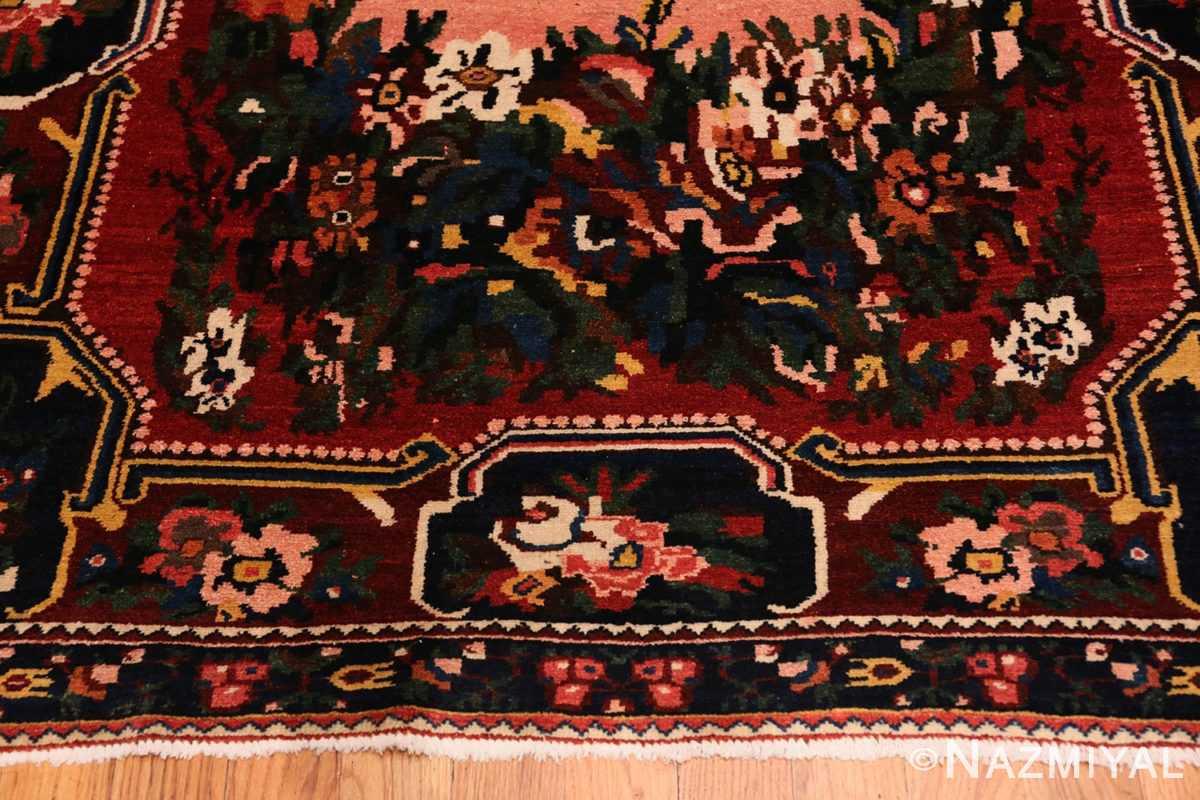 Border Red floral Vintage Persian Bakhtiari rug 50429 by Nazmiyal