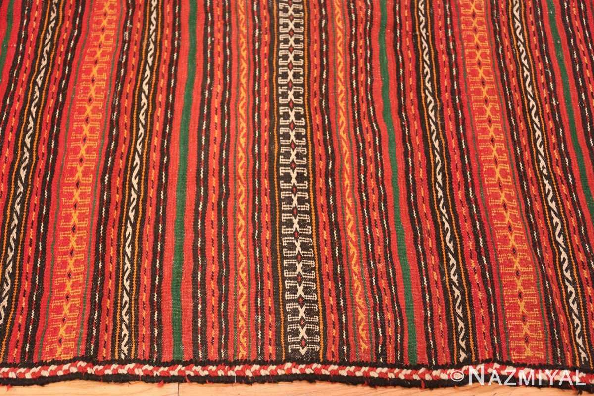 Border Vintage tribal Turkish Kilim rug 50383 by Nazmiyal