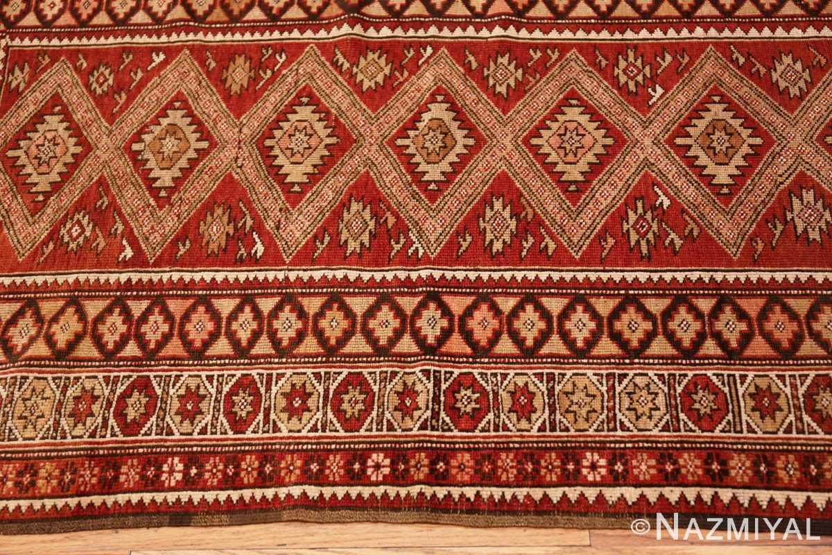 Border Vintage Tribal Turkish rug 50402 by Nazmiyal