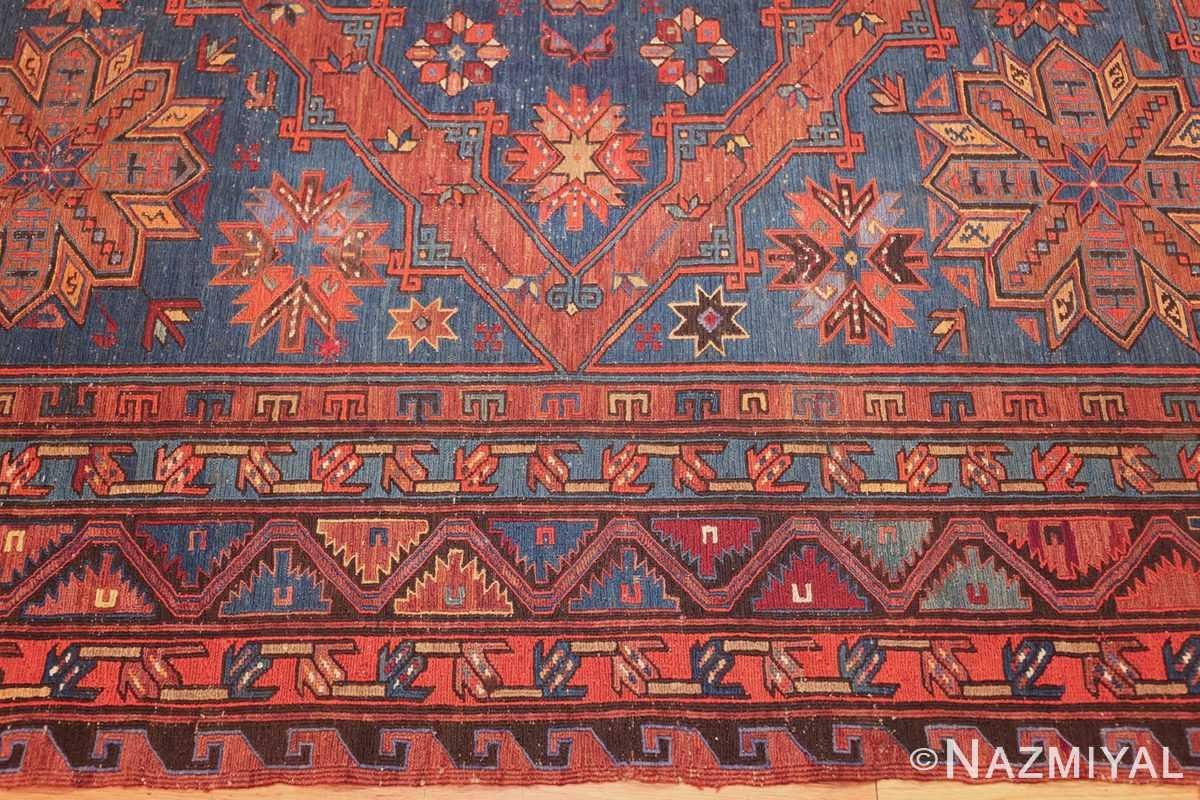 caucasian antique soumak rug 50361 border Nazmiyal
