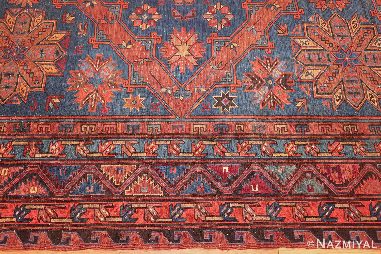 caucasian antique soumak rug 50361 border Nazmiyal