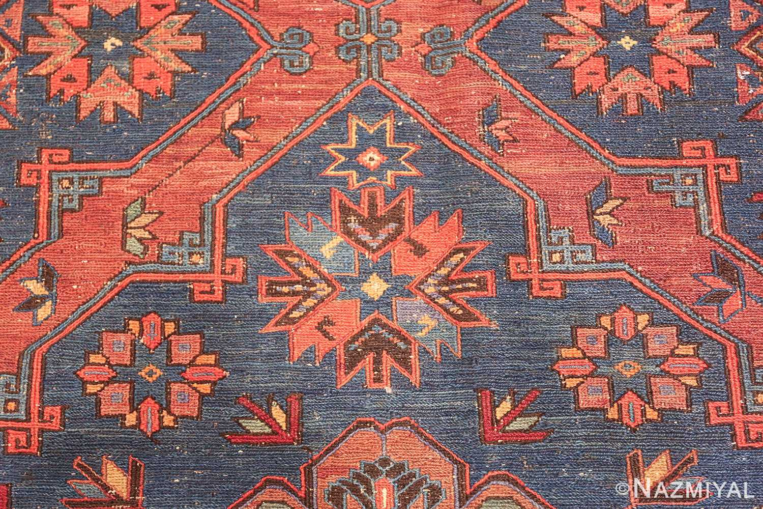 caucasian antique soumak rug 50361 design Nazmiyal