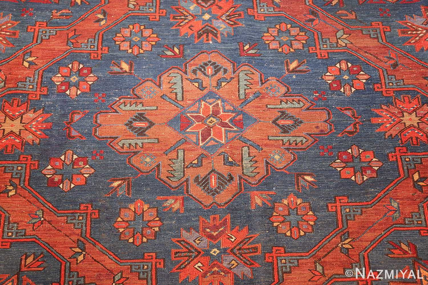 caucasian antique soumak rug 50361 medallion Nazmiyal