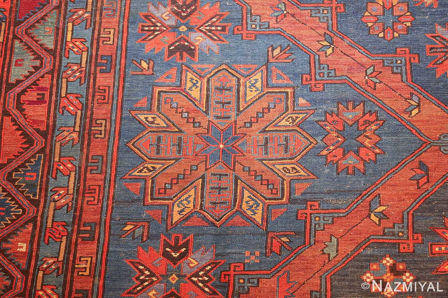 caucasian antique soumak rug 50361 side Nazmiyal
