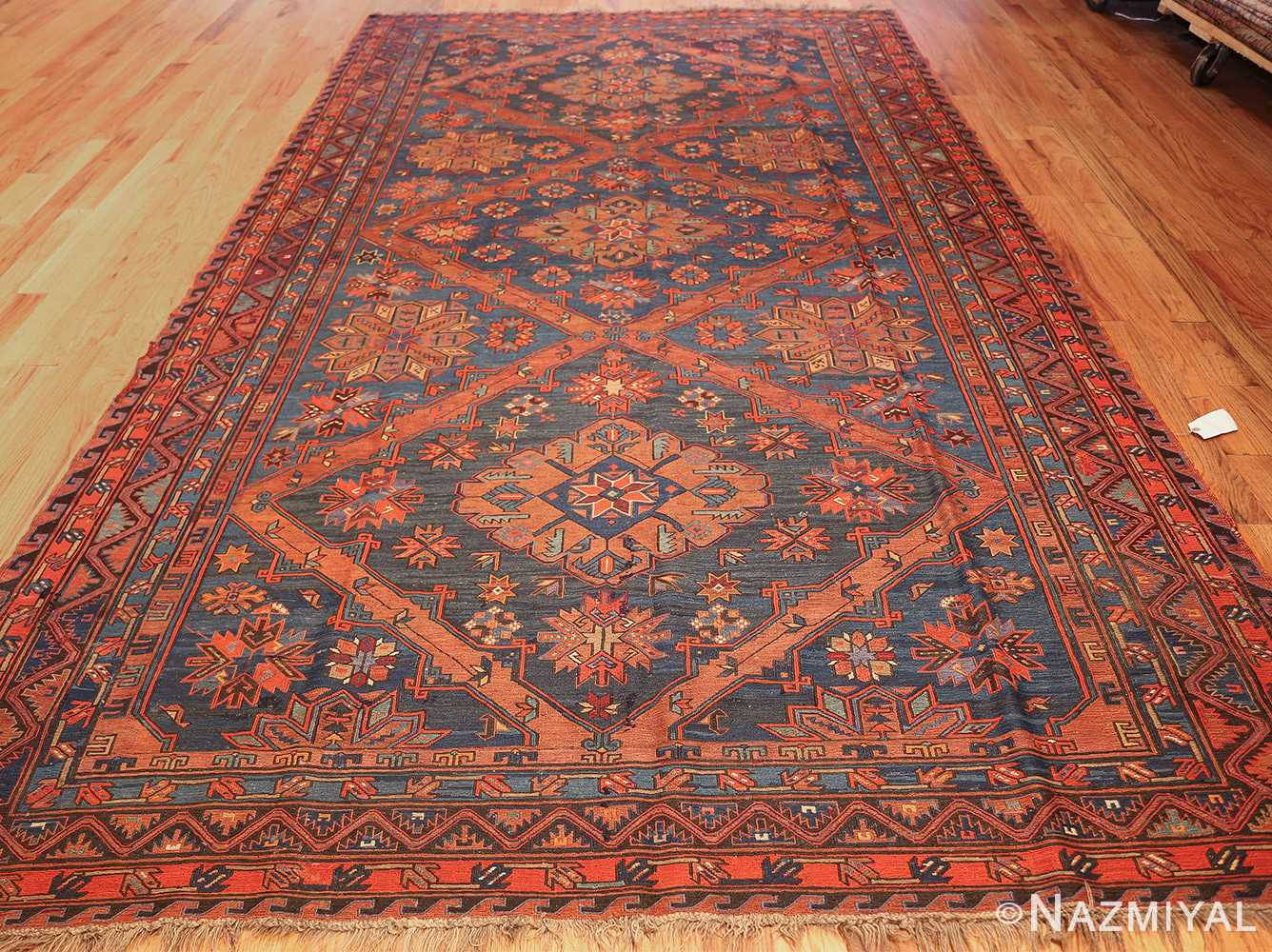 caucasian antique soumak rug 50361 whole Nazmiyal