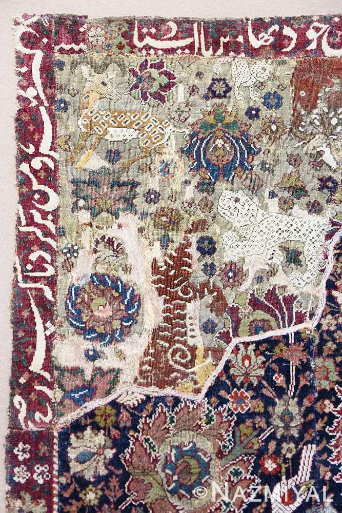 Close-up Antique 16th Century Persian afavid Salting rug 48639 by Nazmiyal