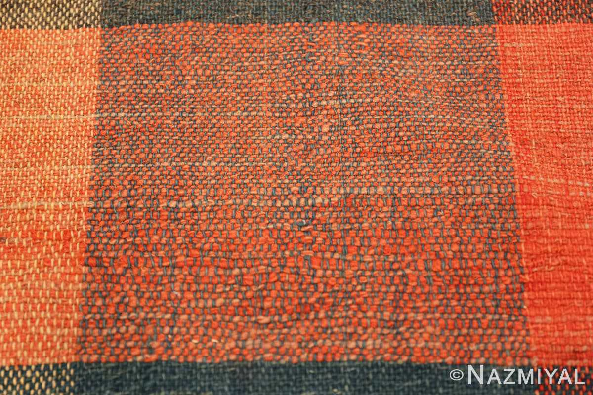 Close-up Antique gallery size American rag rug 48665 by Nazmiyal
