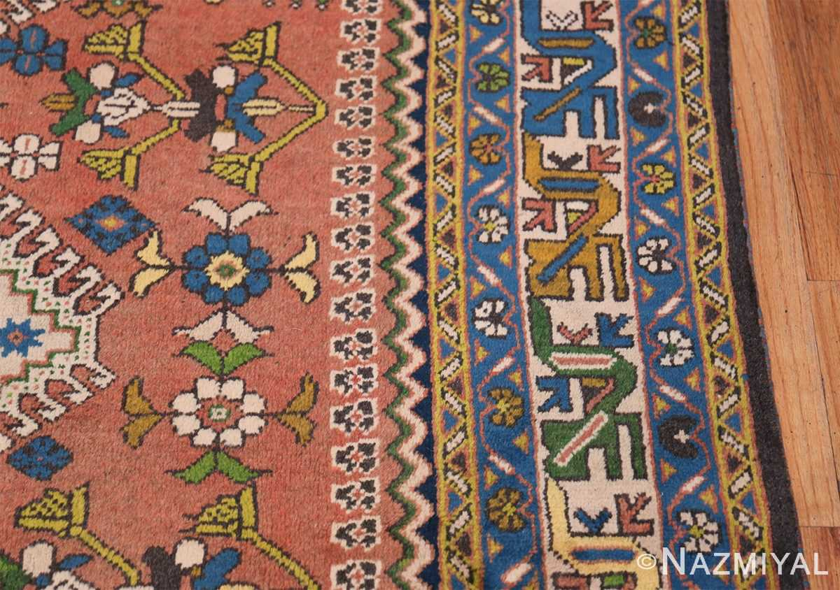 Colorful Vintage Persian Kurdish Rug 50432 Border Design Nazmiyal