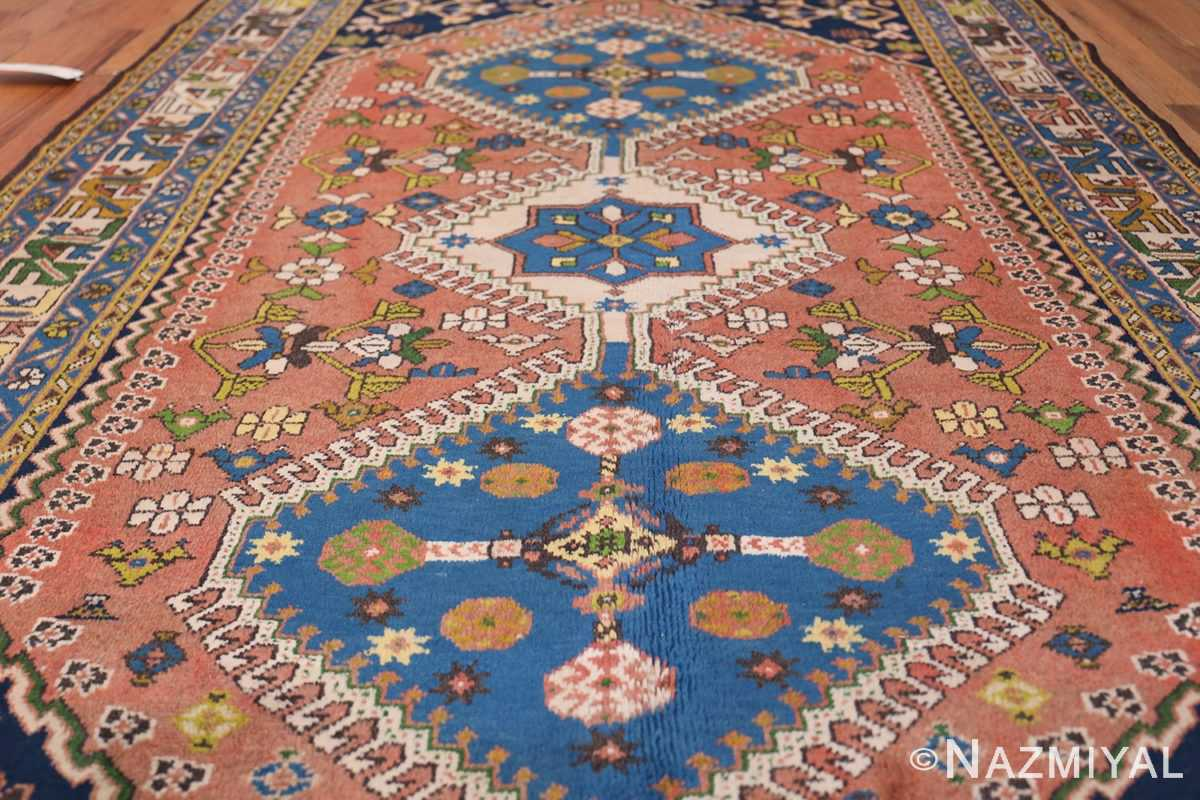 Colorful Vintage Persian Kurdish Rug 50432 Field Design Nazmiyal
