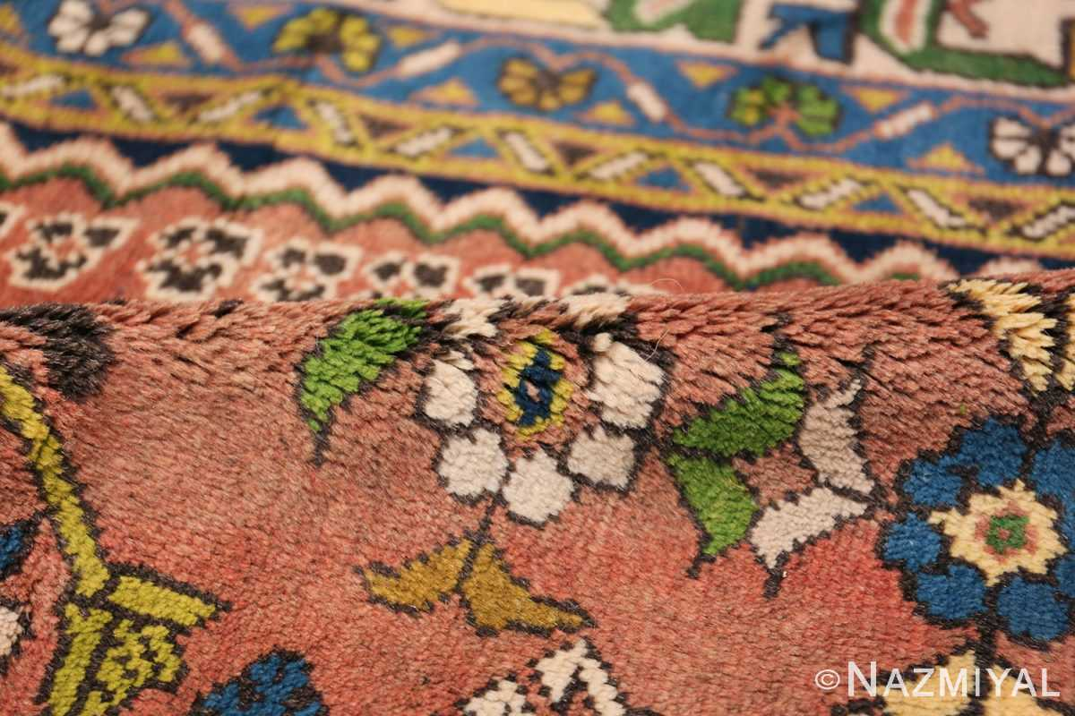 Colorful Vintage Persian Kurdish Rug 50432 Floral Pile Nazmiyal