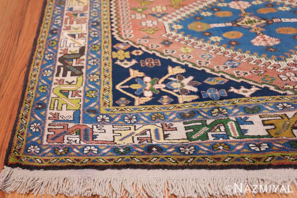 Colorful Vintage Persian Kurdish Rug 50432 Side Corner Nazmiyal