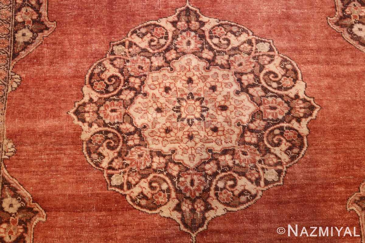 coral antique persian tabriz rug 50362 medallion Nazmiyal