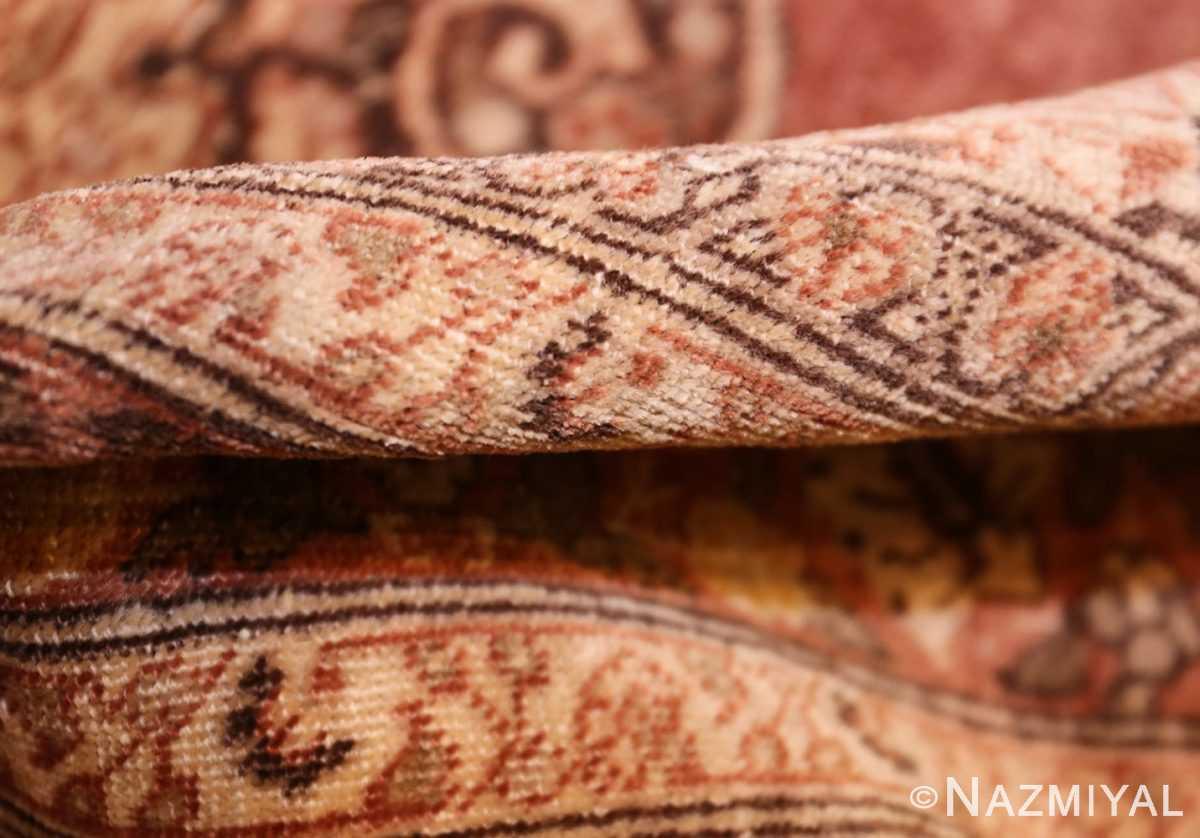 coral antique persian tabriz rug 50362 pile Nazmiyal