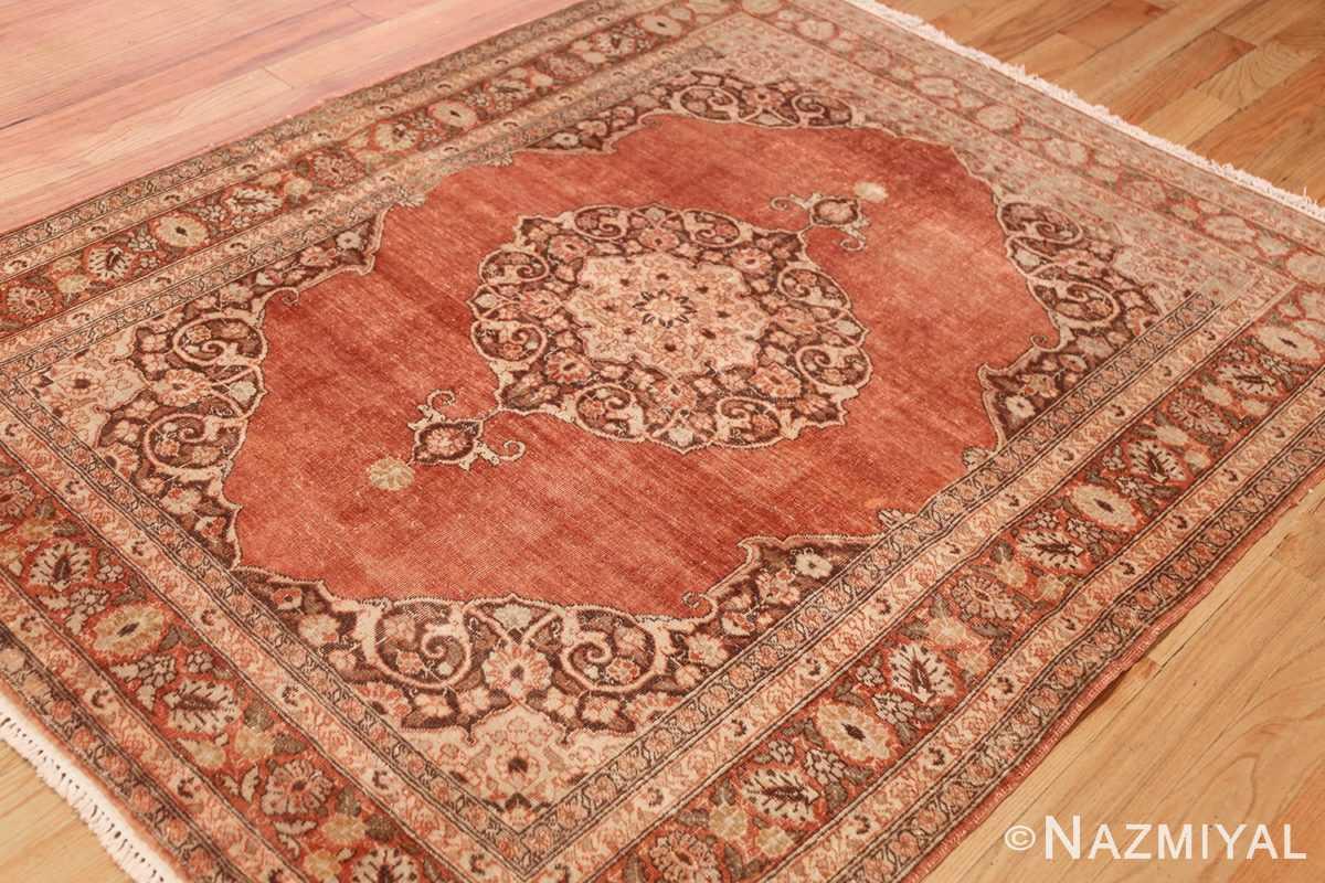 coral antique persian tabriz rug 50362 side Nazmiyal
