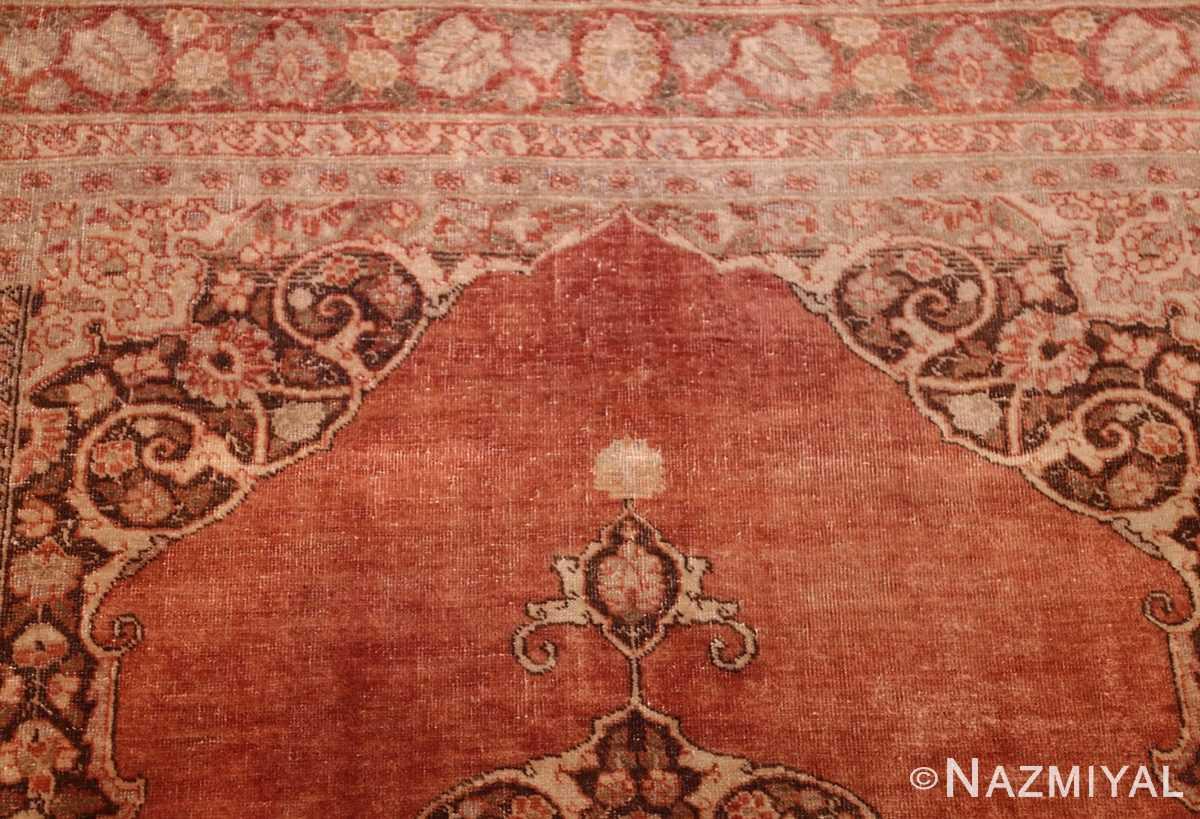 coral antique persian tabriz rug 50362 top Nazmiyal