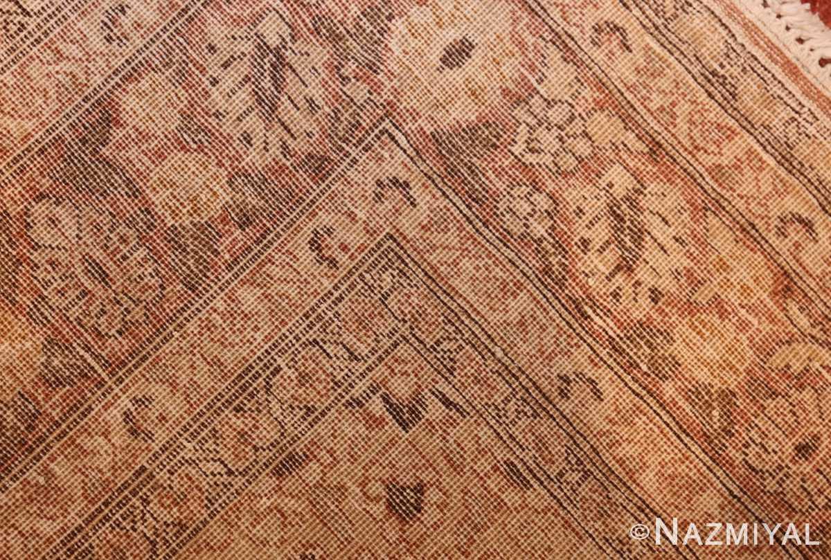 coral antique persian tabriz rug 50362 weave Nazmiyal