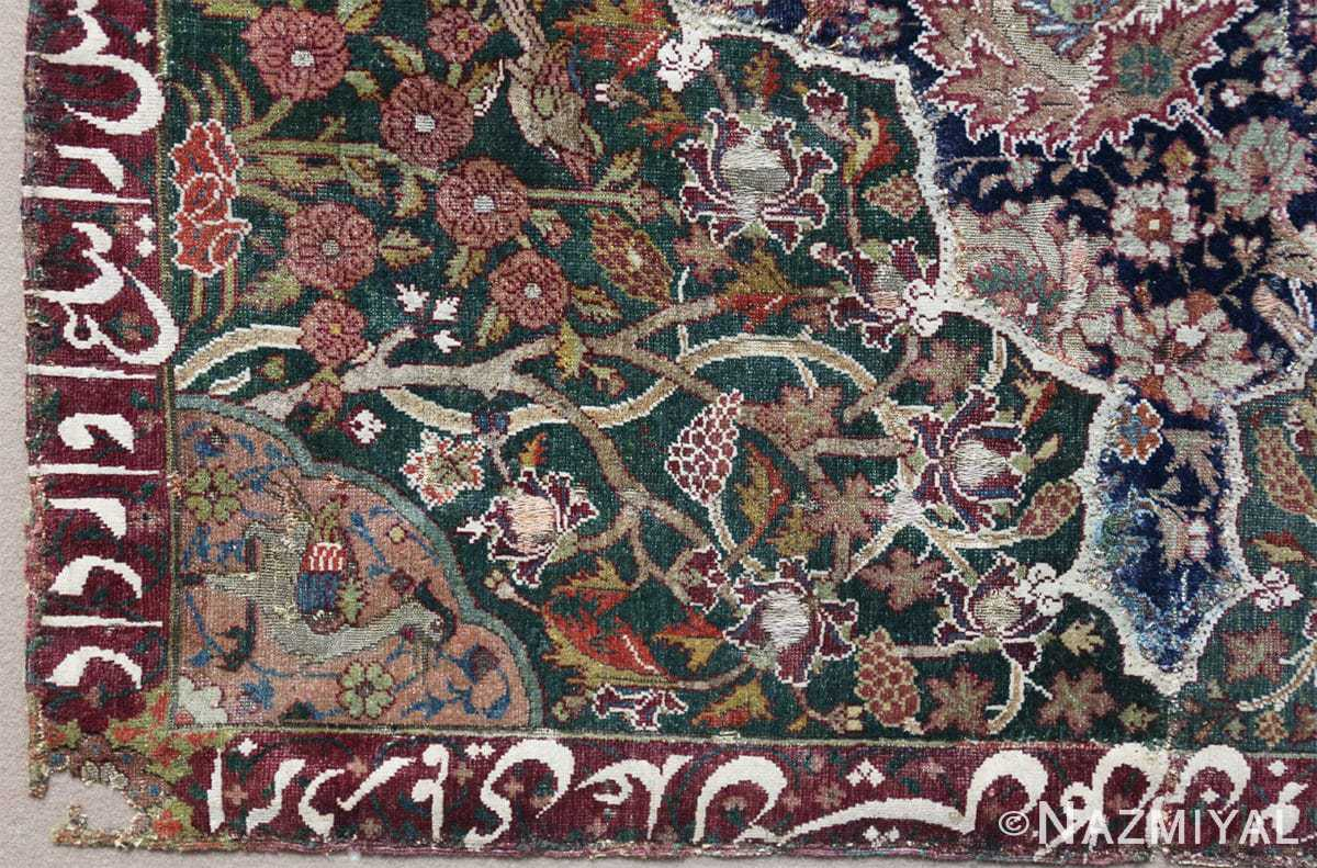 Corner Antique 16th Century Persian afavid Salting rug 48639 by Nazmiyal
