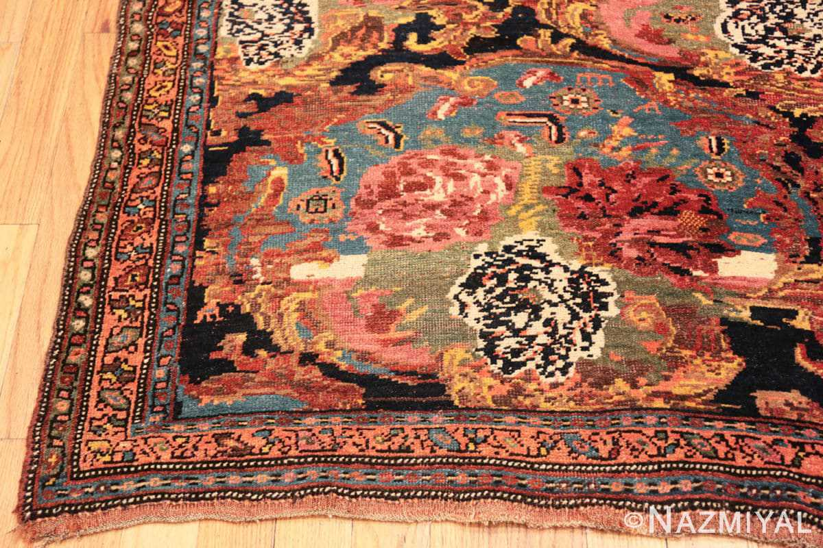 Corner Antique Golfarang Persian Bidjar runner rug 48630 by Nazmiyal